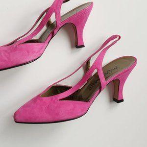 pink fuchsia yves saint laurent strappy pumps
